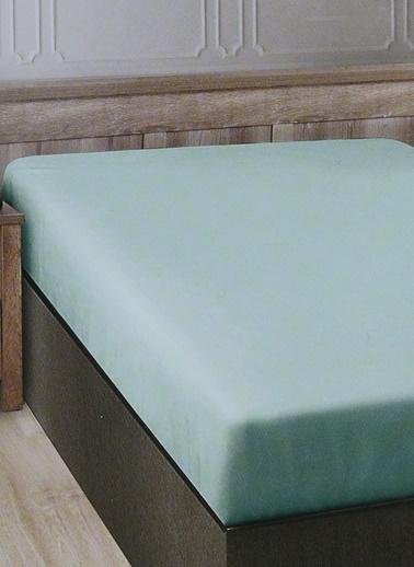 Boyner Evde Boyner Evde 160 x 240 cm  Tek Kişilik Mint Düz Çarşaf Yeşil